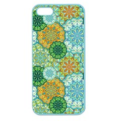 Forest Spirits  Green Mandalas  Apple Seamless Iphone 5 Case (color) by bunart