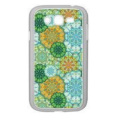 Forest Spirits  Green Mandalas  Samsung Galaxy Grand Duos I9082 Case (white) by bunart