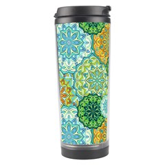Forest Spirits  Green Mandalas  Travel Tumbler by bunart