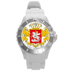 Greater Coat Of Arms Of Georgia Round Plastic Sport Watch (l) by abbeyz71