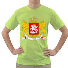Greater Coat Of Arms Of Georgia  Green T Shirt by abbeyz71