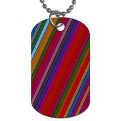 Color Stripes Pattern Dog Tag (one Side) by Simbadda
