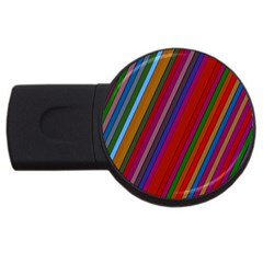 Color Stripes Pattern Usb Flash Drive Round (2 Gb) by Simbadda