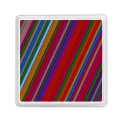 Color Stripes Pattern Memory Card Reader (square)  by Simbadda