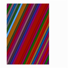 Color Stripes Pattern Small Garden Flag (two Sides) by Simbadda