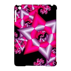 Star Of David On Black Apple Ipad Mini Hardshell Case (compatible With Smart Cover) by Simbadda