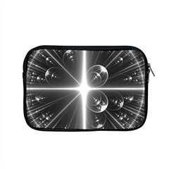 Black And White Bubbles On Black Apple Macbook Pro 15  Zipper Case by Simbadda