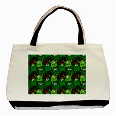 Seamless Little Cartoon Men Tiling Pattern Basic Tote Bag by Simbadda