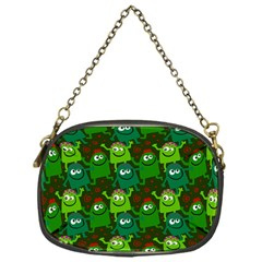 Seamless Little Cartoon Men Tiling Pattern Chain Purses (one Side)  by Simbadda