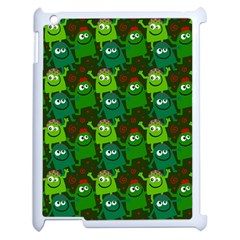 Seamless Little Cartoon Men Tiling Pattern Apple Ipad 2 Case (white) by Simbadda
