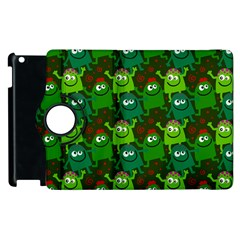 Seamless Little Cartoon Men Tiling Pattern Apple Ipad 3/4 Flip 360 Case by Simbadda