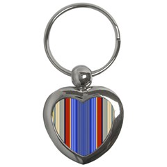 Colorful Stripes Background Key Chains (heart)  by Simbadda