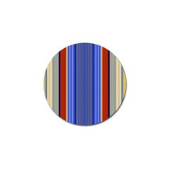 Colorful Stripes Background Golf Ball Marker (10 Pack) by Simbadda