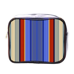 Colorful Stripes Background Mini Toiletries Bags by Simbadda