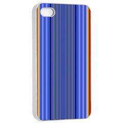 Colorful Stripes Background Apple Iphone 4/4s Seamless Case (white) by Simbadda