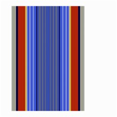 Colorful Stripes Background Small Garden Flag (two Sides) by Simbadda