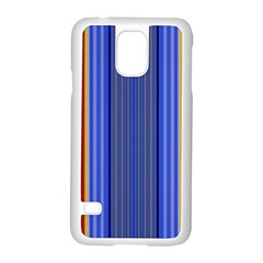 Colorful Stripes Background Samsung Galaxy S5 Case (white) by Simbadda