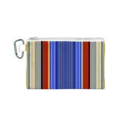 Colorful Stripes Background Canvas Cosmetic Bag (s) by Simbadda