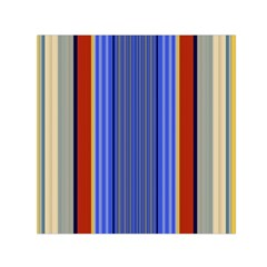 Colorful Stripes Background Small Satin Scarf (square) by Simbadda