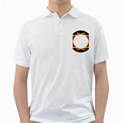 Circle Fractal Frame Golf Shirts by Simbadda