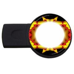 Circle Fractal Frame Usb Flash Drive Round (2 Gb) by Simbadda