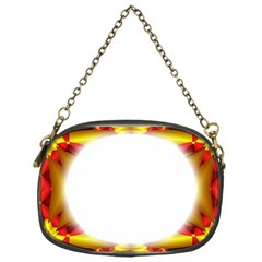 Circle Fractal Frame Chain Purses (one Side)  by Simbadda