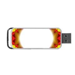Circle Fractal Frame Portable Usb Flash (two Sides) by Simbadda