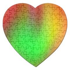 November Blurry Brilliant Colors Jigsaw Puzzle (heart) by Simbadda