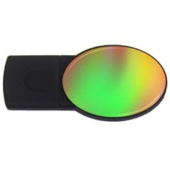 November Blurry Brilliant Colors Usb Flash Drive Oval (4 Gb)