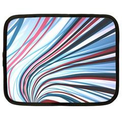 Wavy Stripes Background Netbook Case (xl)  by Simbadda