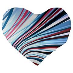 Wavy Stripes Background Large 19  Premium Heart Shape Cushions by Simbadda