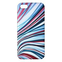 Wavy Stripes Background Iphone 5s/ Se Premium Hardshell Case by Simbadda