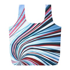 Wavy Stripes Background Full Print Recycle Bags (l)  by Simbadda