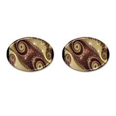 Space Fractal Abstraction Digital Computer Graphic Cufflinks (oval) by Simbadda