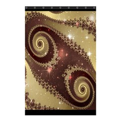 Space Fractal Abstraction Digital Computer Graphic Shower Curtain 48  X 72  (small)  by Simbadda