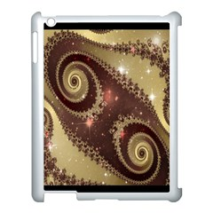 Space Fractal Abstraction Digital Computer Graphic Apple Ipad 3/4 Case (white) by Simbadda