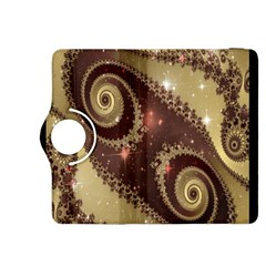 Space Fractal Abstraction Digital Computer Graphic Kindle Fire Hdx 8 9  Flip 360 Case by Simbadda