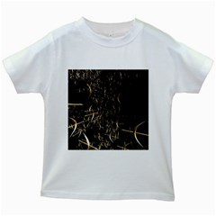Golden Bows And Arrows On Black Kids White T Shirts by Simbadda