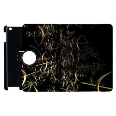 Golden Bows And Arrows On Black Apple Ipad 3/4 Flip 360 Case by Simbadda