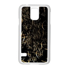 Golden Bows And Arrows On Black Samsung Galaxy S5 Case (white) by Simbadda