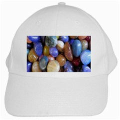 Rock Tumbler Used To Polish A Collection Of Small Colorful Pebbles White Cap by Simbadda