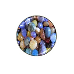 Rock Tumbler Used To Polish A Collection Of Small Colorful Pebbles Hat Clip Ball Marker (10 Pack) by Simbadda