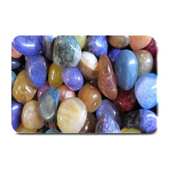 Rock Tumbler Used To Polish A Collection Of Small Colorful Pebbles Plate Mats by Simbadda
