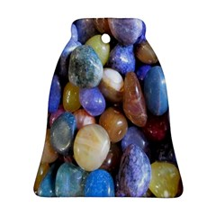 Rock Tumbler Used To Polish A Collection Of Small Colorful Pebbles Ornament (bell)