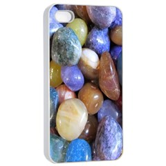 Rock Tumbler Used To Polish A Collection Of Small Colorful Pebbles Apple Iphone 4/4s Seamless Case (white) by Simbadda