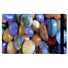 Rock Tumbler Used To Polish A Collection Of Small Colorful Pebbles Apple Ipad 3/4 Flip Case by Simbadda