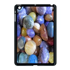 Rock Tumbler Used To Polish A Collection Of Small Colorful Pebbles Apple Ipad Mini Case (black) by Simbadda
