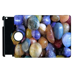 Rock Tumbler Used To Polish A Collection Of Small Colorful Pebbles Apple Ipad 3/4 Flip 360 Case by Simbadda