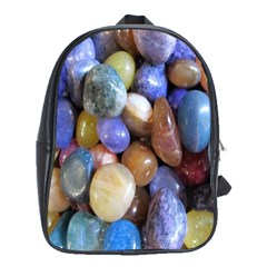 Rock Tumbler Used To Polish A Collection Of Small Colorful Pebbles School Bags (xl)  by Simbadda