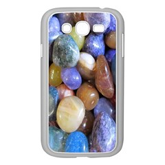 Rock Tumbler Used To Polish A Collection Of Small Colorful Pebbles Samsung Galaxy Grand Duos I9082 Case (white)
